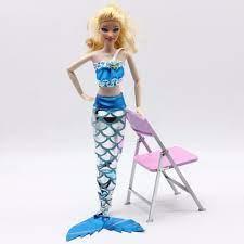 Giá bán Bộ 2 món áo kèm đuôi cá công chúa màu xanh dương xinh xắn cho búp  bê Barbie