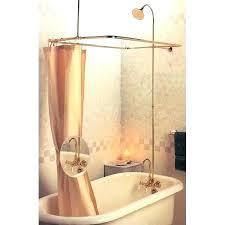 clawfoot shower kits shower kit tubs shower enclosures tub shower kits great pedestal tub with shower