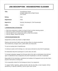 housekeeper job description example 14 free word pdf documents -  Housekeeper Duties