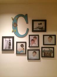 wall picture collage with family letter