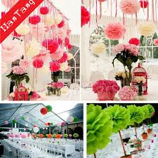 Paper Flower Tissue Paper 2019 Pom Pom Flower Tissue Paper Flower Pompoms Balls For Wedding Decoration Party Diy Decoration Craft Fake Paper Flowers 5z From Blithenice 41 69