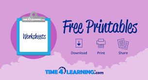 Free Printable: Elementary Social Studies Worksheet   Time4Learning