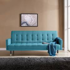 Handy Living Springfield Turquoise Blue Linen Click Clack Futon Sofa Bed -  Free Shipping Today - Overstock.com - 23746045