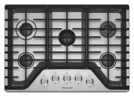 kitchenaid 5 burner gas cooktop stainless steel common 30 in