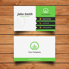 Corporate Green Business Card Design Vector Free Download