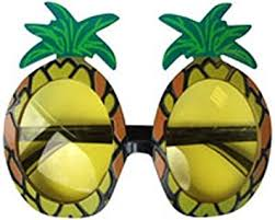 pineapple with sunglasses clipart. 6 x pineapple sunglasses glasses specs hawaiian hula fancy dress up costume accessory with clipart
