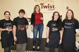 the painting with a twist skippack team on opening night