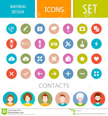 Material Design Stock Images Set Of Icons In The Style Of The Material Design Stock