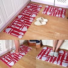 Red Kitchen Rugs Interesting Black And Buy Rug For From Bed Bath