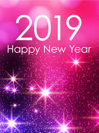 Pink Glow Happy New Year Card 2019 Is There A Pink Loving Person In