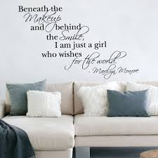 wall art stickers marilyn monroe quote vinyl wall art sticker decal ebay on wall art stickers quotes ebay with wall art stickers marilyn monroe quote vinyl wall art sticker