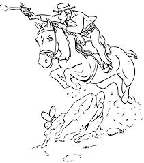 Coloriage Cowboy Les Beaux Dessins De Personnages Imprimer Et