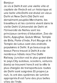 Describe Your French Letter On Describing Your City Brainly In