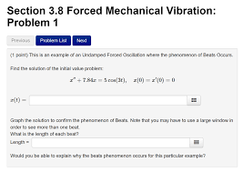 Solved Section 3 8 Forced Mechanical Vibration Problem 1