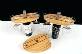 wine bottle and glass holder outdoor wooden wine bottle and glass holder
