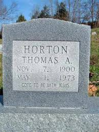 HORTON, THOMAS ARTHUR - Searcy County, Arkansas | THOMAS ARTHUR HORTON -  Arkansas Gravestone Photos