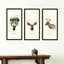 nordic small fresh cow plant decorative painting watercolor paintings creative combination of modern minimalist bedroom csq017 in painting calligraphy