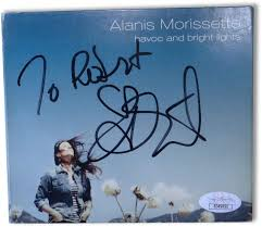 Havoc And Bright Lights Songs Alanis Morissette Signed Autographed Cd Cover Havoc Bright