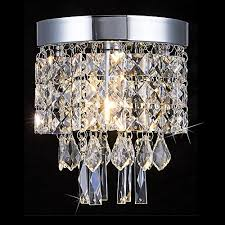 floodoor crystal chandelier mini modern flush mount ceiling light 5 9 inches diameter for hallway kitchen dining room living room
