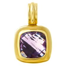david yurman albion pendant in 18k sterling silver with faceted amethyst image 1