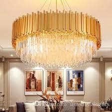 american modern crystal chandelier led lamps gold crystal chandeliers lighting fixture shining home indoor lighting hotel lobby hanging lamp chandelier