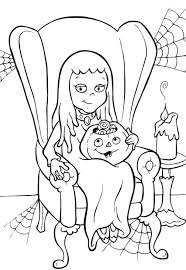 Small Picture Girl Printable Halloween Coloring Pages To Print Hallowen
