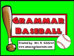 Parts Of Speech Flip Chart Grammar Baseball Promethean Flipchart Lesson Smart Board