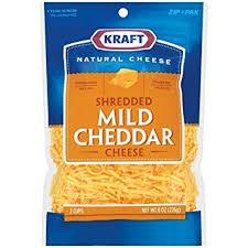 shredded cheese. Brilliant Cheese KRAFT CHEESE MILD CHEDDAR SHREDDED 8 OZ PACK OF 3 In Shredded Cheese T
