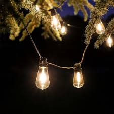outdoor tulip filament style festoon lights connectable warm white leds