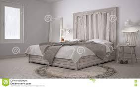 Diy Schlafzimmer Bett Mit Hölzerner Kopfende Skandinavisches