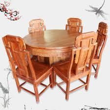 dongyang wood furniture african rosewood dining table as the first round table combination of solid