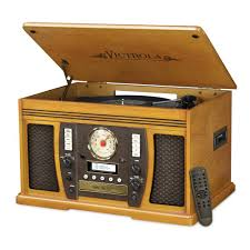 victrola 7 in 1 bluetooth wooden center in oak