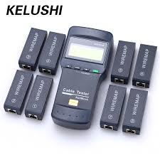 network jack tester reviews online shopping network jack tester kelushi nf 8108 m multifunction cat5 rj45 network lan phone cable tester meter mapper 8 pc far end test jack english operation