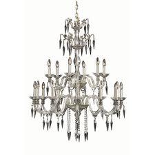 elegant lighting grande french gold 18 light chandelier with elegant cut crystal