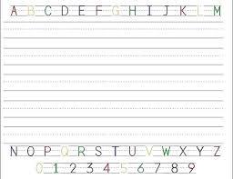 Writing Template For Kindergarten Preschool Writing Paper