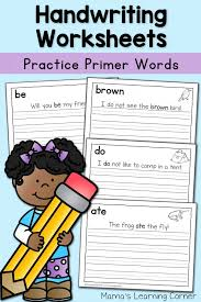 Handwriting Worksheets for Kids: Dolch Primer Words! - Mamas ...
