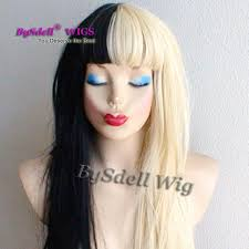 Black and blonde wig