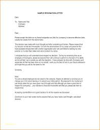 Easy Resignation Letter Template Simple Formal – Mstaml