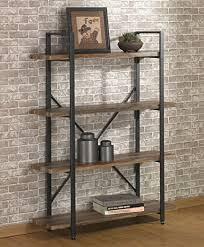 industrial wood furniture. Interesting Industrial Ou0026K Furniture 4 Tier Bookcases Book Shelves Industrial Vintage Metal Wood  In R
