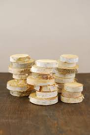 Small birch rounds for making place cards or to use as table scatter