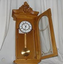 westminster chime wall clock with pendulum