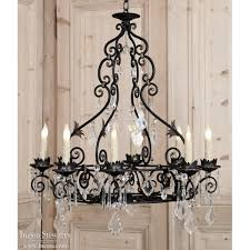 captivating iron and crystal chandelier rustic iron chandelier black iron chandeliers with detail carvig