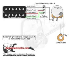 1 humbucker 1 volume pull for south single coil 1 humbucker 1 volume north coil humbucker south coil