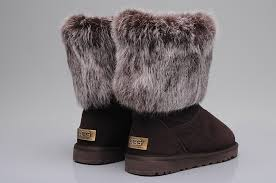 ... UGG 5825 Fox Fur Short Shoes For Women in Coffee ...