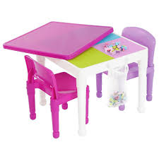 table chair for toddler. Tot Tutors 2-in-1 Pink Girls Plastic Building Block Compatible Construction Table And Chair For Toddler