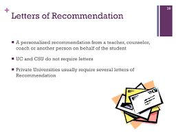 do csu need letter recommendation english how to prepare your kids for college