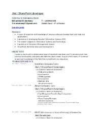 sharepoint developer resume wondrous sharepoint developer cv pleasurable project ideas resume 4