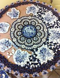 upcycling dinner plates and old china