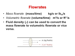 flowrates mass flowrate mass time kg s or lbm s