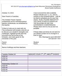 parent teacher conference letter to parents examples 7 teacher letter templates 7 free sample example format
